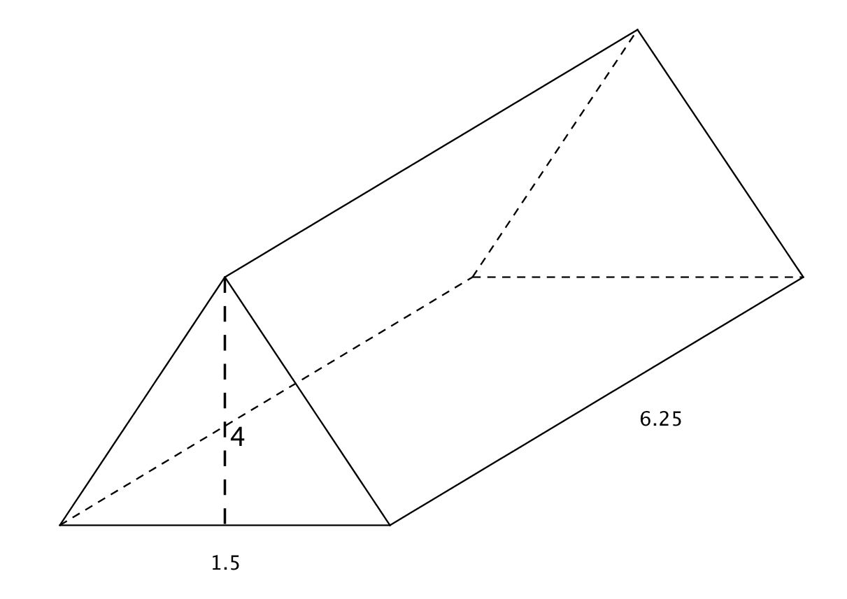 what is the volume of the following triangular prism - Surface Area And Volume Worksheet