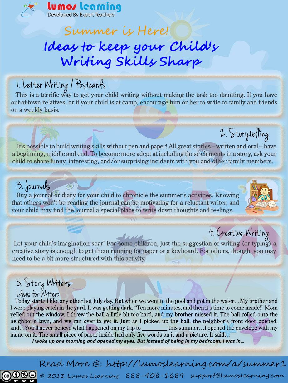 Activities that Encourage Writing Skills
