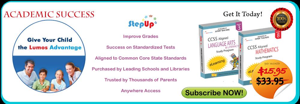 Academic Success through Lumos StepUp™. Give your Child the Lumos Advantage!
