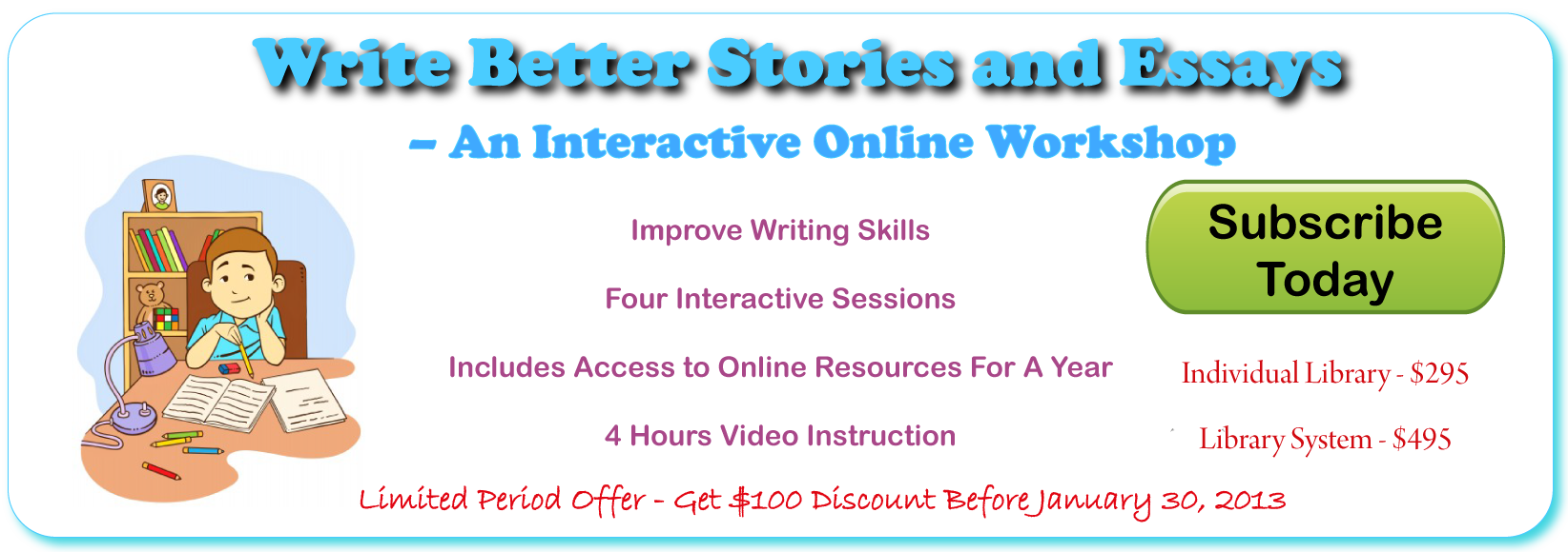 Write Better Workshop Banner