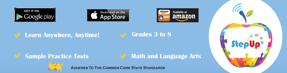 Lumos StepUp Mobile App now available for Android & iOS! Grades 3-8, Full-length Practice Tests, Math & Language Arts, Learn Anytime, Anywhere. And, it's completely FREE!