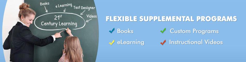 Flexible Supplemental Programs: Books, eLearning, Mobile Apps & Videos