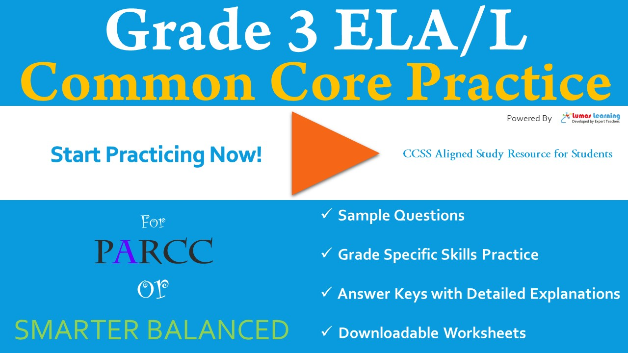 FSA Grade 3 English Language and Arts Practice Test | LumosLearning