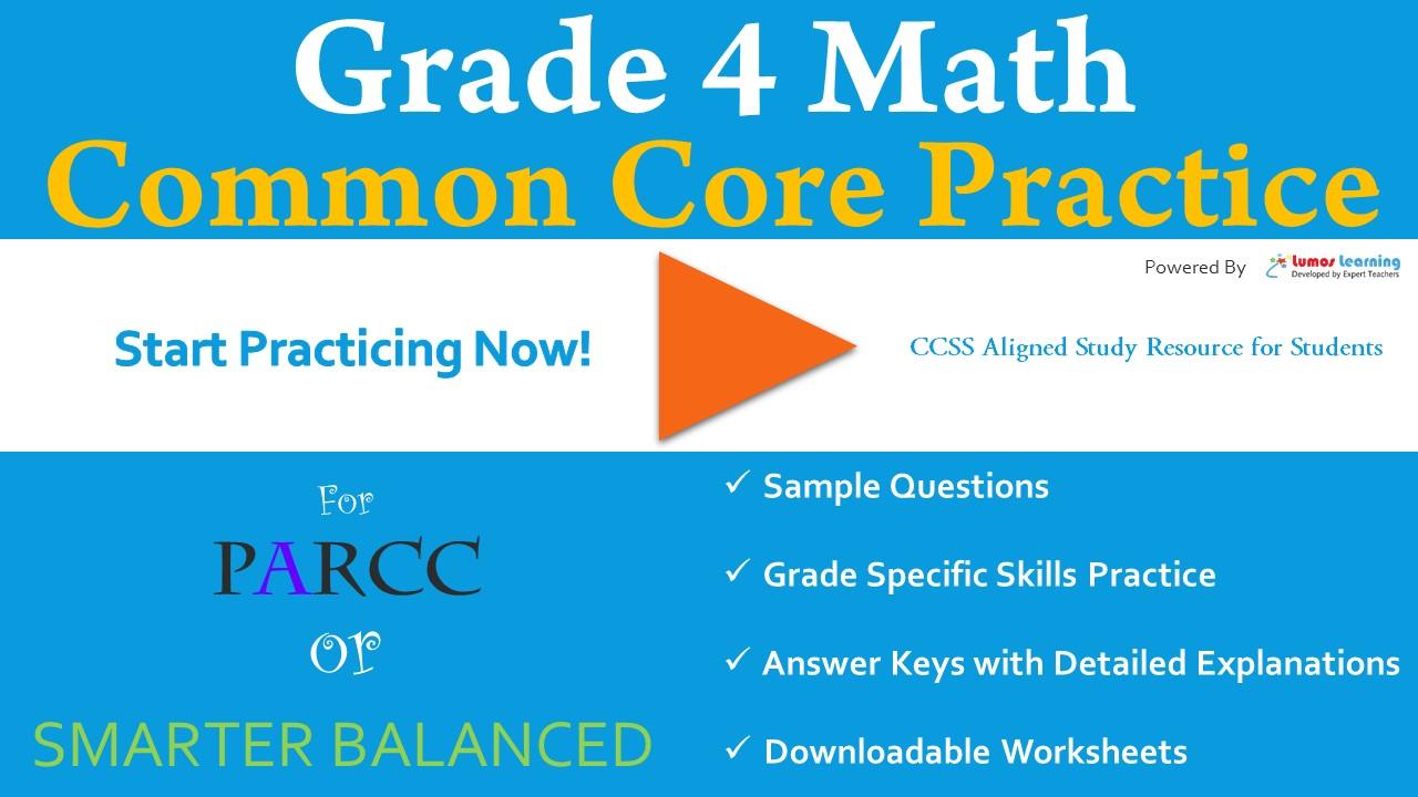 SBAC Grade 4 Mathematics Practice Test | LumosLearning