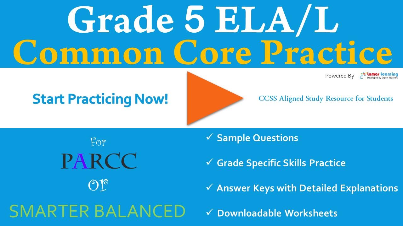 FSA Grade 5 English Language and Arts Practice Test | LumosLearning