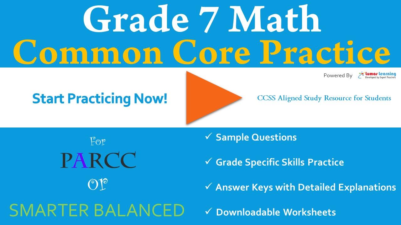 SBAC Grade 7 Mathematics Practice Test | LumosLearning