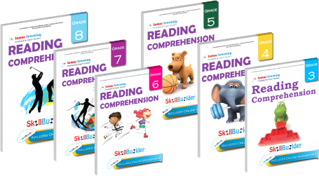 reading comprehension workbooks for grades 3 to 8 students